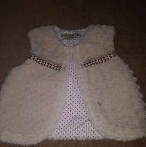 Ivory Faux Fur Vest